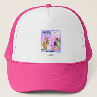 Funny Cat Cartoon (Cat Scams) Cap