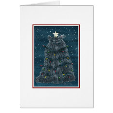 Funny Cat Christmas Card at Zazzle