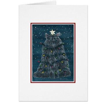Christmas Themed Funny Cat Christmas Card