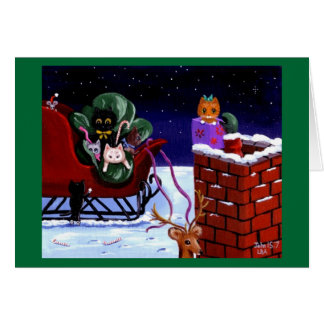 Funny cat christmas cards greeting photo cards zazzle for Funny reindeer christmas cards