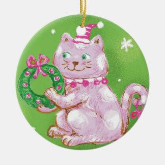 Funny Cat Christmas Ornament