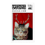 Funny Cat Christmas stamps