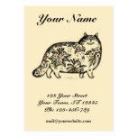Funny Cat Chubby Business Card