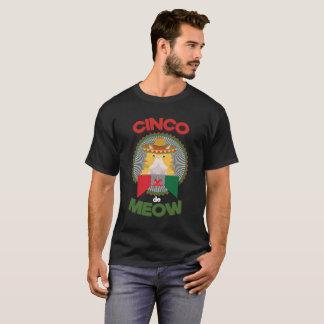 Funny Cat Cinco de Mayo Mexico Holiday Black shirt