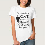 Funny Cat Costume, Halloween Women's Shirts