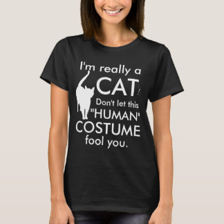 Funny Cat Costume, Halloween Women's T-Shirt