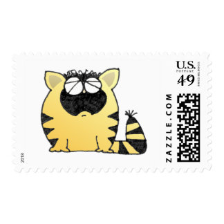 Funny Cat cry Postage Stamp
