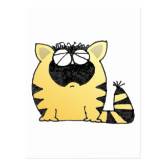 Funny Cat cry Postcard