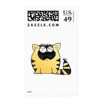 Funny Cat cry Stamp