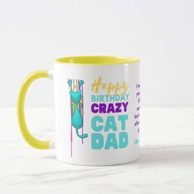 Funny CAT DAD Birthday From The WIFE To HUSBAND Mug
