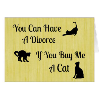 Funny Cat Divorce Note Cards