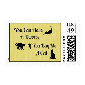 Funny Cat Divorce Postage Stamps