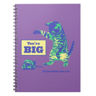 Funny Cat Dog Spiral Photo Notebook