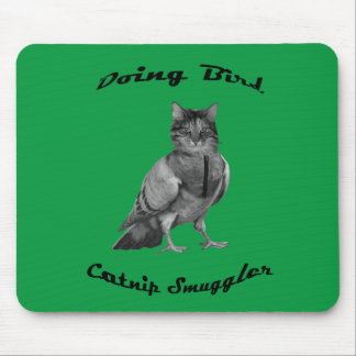 funny Cat doing Bird Mouse Pad