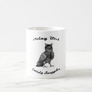 funny Cat doing Bird Coffee Mug