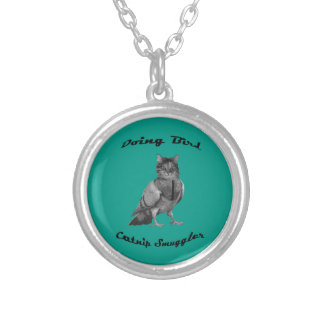 funny Cat doing Bird Personalized Necklace