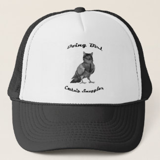 funny Cat doing Bird Trucker Hat