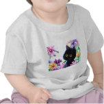 Funny Cat Dragonfly Daisies Creationarts Shirt