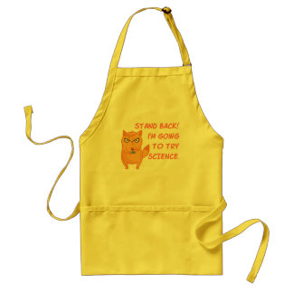 Funny Cat Engineering Scientist Robot Science Adult Apron