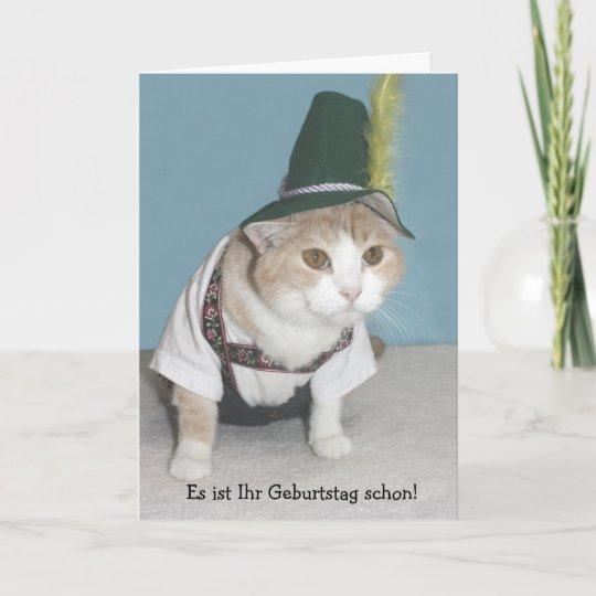 Funny Cat German Birthday Card Zazzle