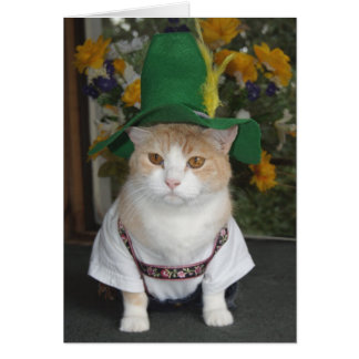 Funny Cat German Birthday Greeting Card