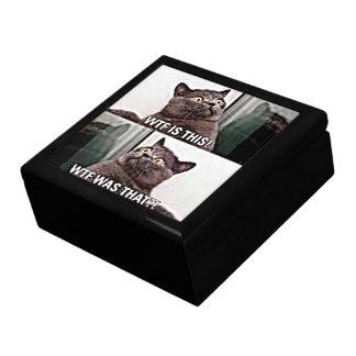 Funny Cat Keepsake Box