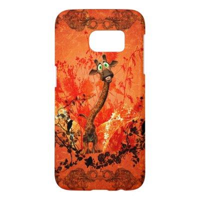 Funny cat giraffe Case-Mate samsung galaxy case