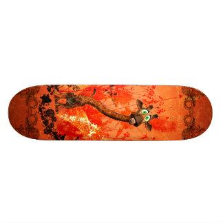 Funny cat giraffe skateboard deck
