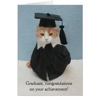 Funny Cat Graduation Card