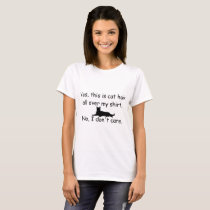 Funny Cat Hair T-shirt, Cat Hair Covered shirt