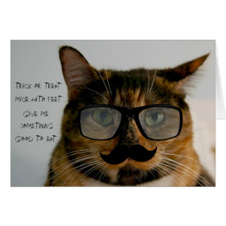Funny Cat Halloween Card, Cat in Disguise Card