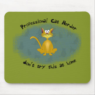 Funny Cat Herder Mousepad