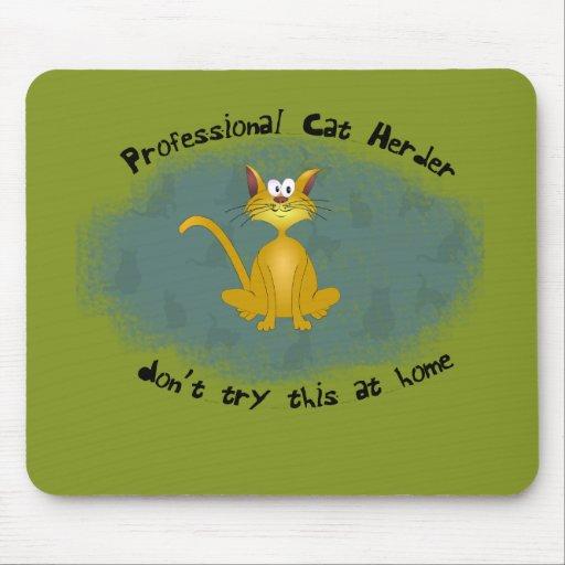 Funny Cat Herder Mousepad