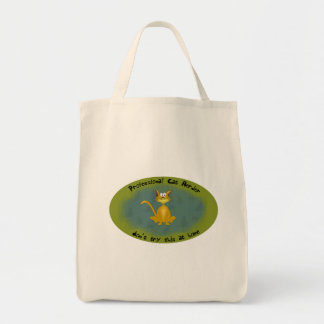 Funny Cat Herder Tote Grocery Tote Bag