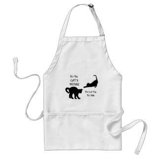 Funny Cat House Apron Standard Apron