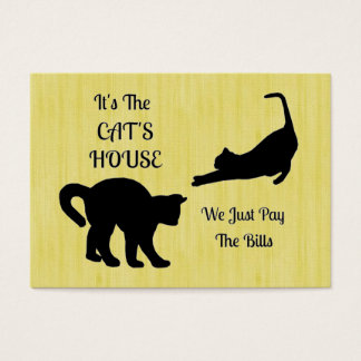 Funny Cat House Business Cards
