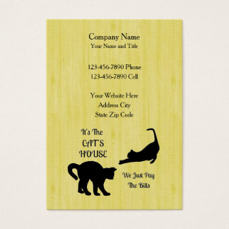 Funny Cat House Business Cards - Vertical