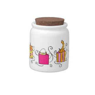 Funny Cat in a Box Treat Jar Candy Jar