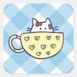 Funny cat in cup sticker