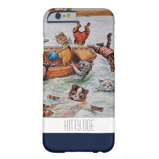 Funny Cat iPhone6 Case - Louis Wain's Boating Cats iPhone 6 Case
