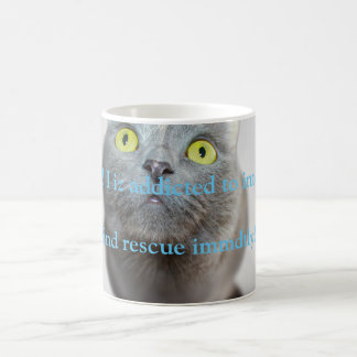 Funny cat iz addicted to internets coffee mug
