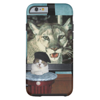Funny Cat/Kitty Artist Self-Portrait Tough iPhone 6 Case
