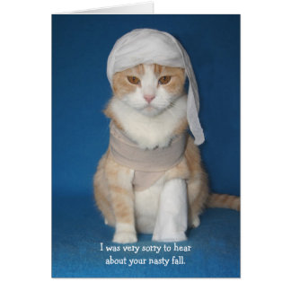 Funny Cat/Kitty in Cast Greeting Card