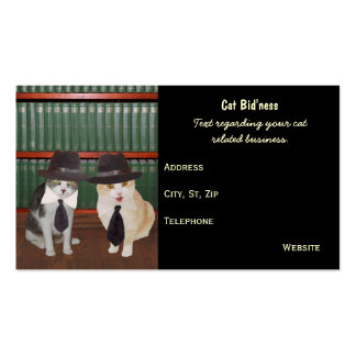 Funny Cat/Kitty Related Business Double-Sided Standard Business Cards (Pack Of 100)