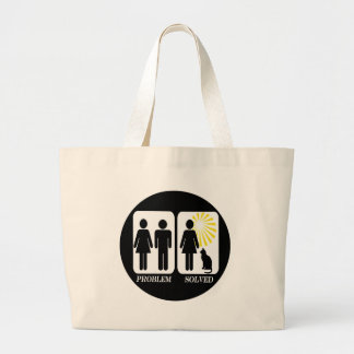 Funny Cat Lady Large Tote Bag