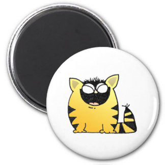Funny cat laugh 2 inch round magnet