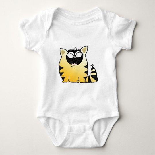 Funny cat laugh baby bodysuit