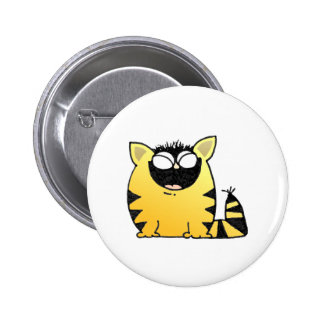 Funny cat laugh 2 inch round button