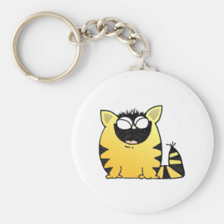 Funny cat laugh keychain