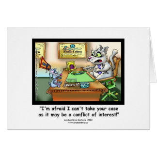 Funny Cat & Lawyer Funny Greeting Card